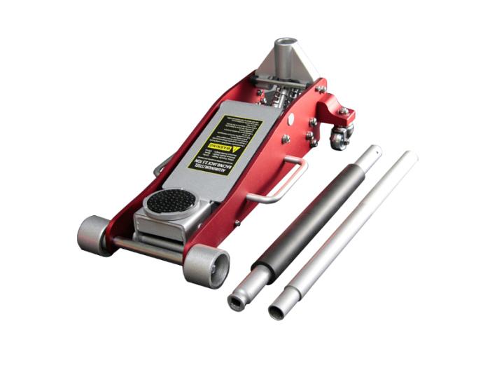 ハイブリッド アルミジャッキ 2.5t 赤 / アルミ+スチール製 油圧式 耐荷重25・・・