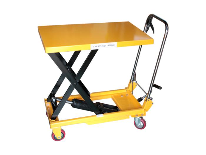 油圧式昇降台車 / 油圧テーブルリフト 150kg  折りたたみ式・・・