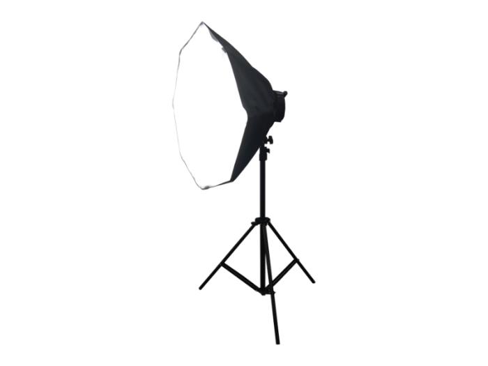 撮影照明器具 ソフトボックス 八角形 55x55cm 5灯式 スタンド付属 写真撮影機・・・