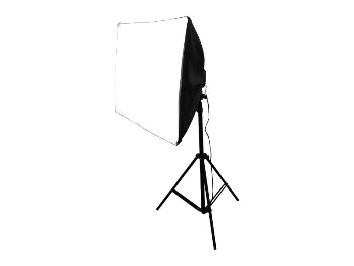 撮影照明器具 ソフトボックス 四角形 70x50cm 4灯式 スタンド付属 写真撮影機・・・