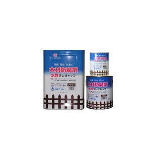 吉田製油所-水性クレオトップ-ブラウン-0.7L