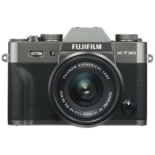 FUJIFILM X-T30 15-45mmレンズキット [チャコールシルバー] 商品画像1:カメラ会館
