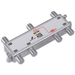 DXアンテナ【F5接栓付き】周波数帯域10~3224MHz 1端子電流通過 6分配器(4・・・