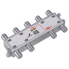 DXアンテナ【F5接栓付き】周波数帯域10~3224MHz 1端子電流通過 8分配器(4・・・