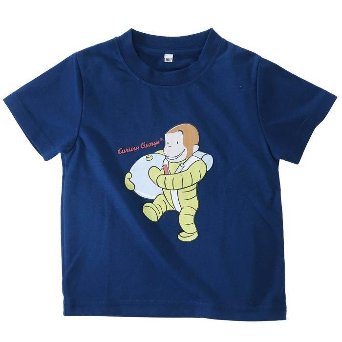 おさるのジョージ[子供用Tシャツ]キッズT-SHIRTS クラシック 宇宙飛行士[120・・・