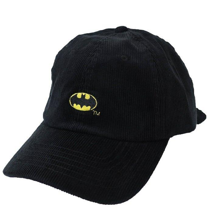バットマン ロゴ コーデュロイ 刺繍 ベースボールキャップ 帽子 BATMAN DCコミック スモールプラネット 男女兼用 野球帽 キャラクターグッズ