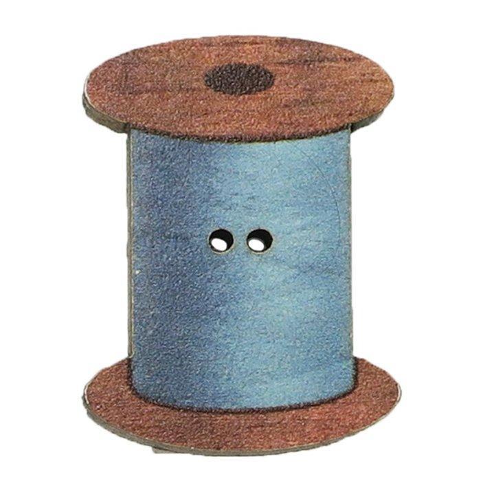 アトリエボヌールドゥジュール 手芸用品 フランス製木製飾りボタン 糸巻き ブルー ハートアートコレクション ハンドクラフト おしゃれ 手作り 雑貨 グッズ