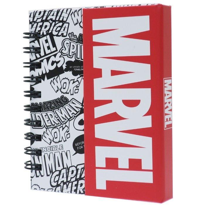 マーベル メモ帳 マグネット付き ミニ リング メモ ロゴ MARVEL ティーズファ・・・