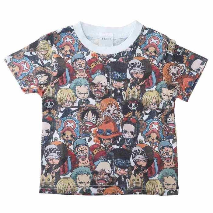 ワンピース[子供用Tシャツ]キッズT-SHIRTS 集合パターン ONE PIECE[100サイズ・・・