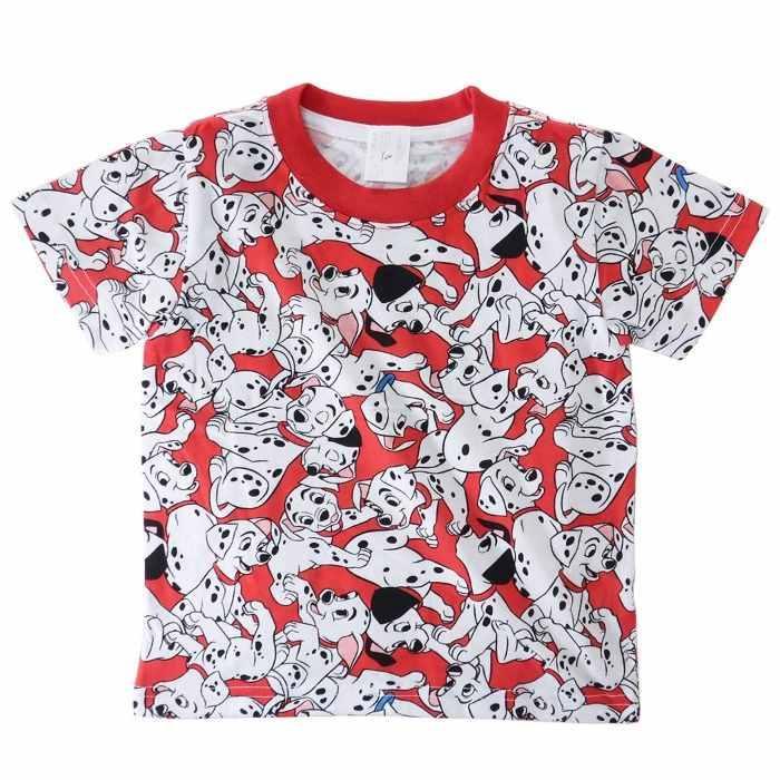 101匹わんちゃん[子供用Tシャツ]キッズT-SHIRTS ぎっしり 総柄 ディズニー[10・・・