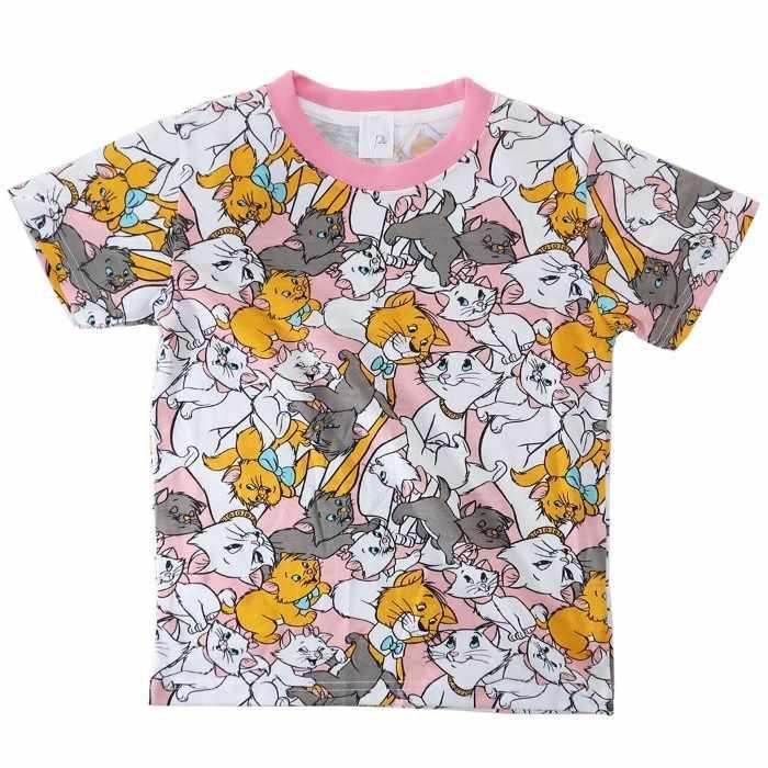 おしゃれキャット マリー[子供用Tシャツ]キッズT-SHIRTS ぎっしり 総柄 ディ・・・
