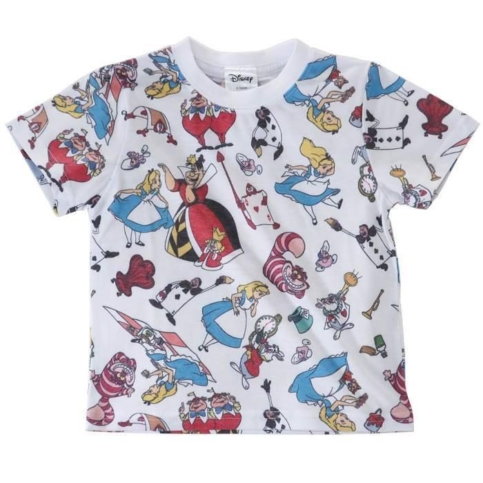 ふしぎの国のアリス[子供用Tシャツ]キッズT-SHIRTS オールスター 総柄 ディズ・・・