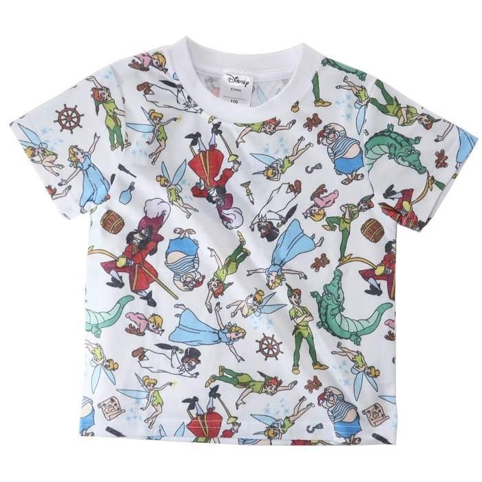 ピーターパン[子供用Tシャツ]キッズT-SHIRTS オールスター 総柄 ディズニー[1・・・