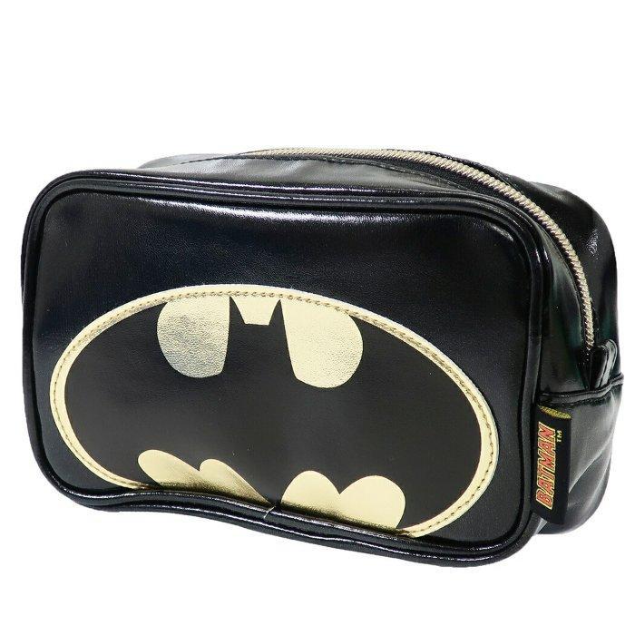 バットマン コスメポーチ スクエア ポーチ バットマンロゴ DCコミック スモールプラネット 小物入れ ギフト 雑貨 キャラクターグッズ