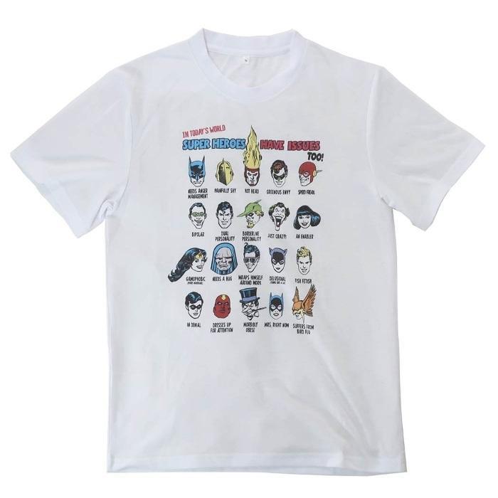 ジャスティスリーグ[Tシャツ]T-SHIRTS 整列 DCコミック[Lサイズ]