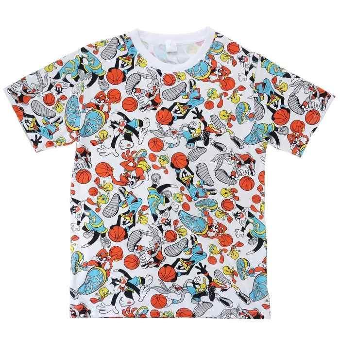 ルーニーテューンズ[Tシャツ]T-SHIRTS バスケ 総柄[Mサイズ]
