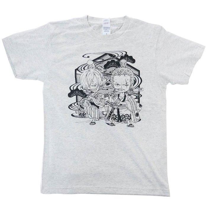 ワンピース[Tシャツ]T-SHIRTS ワノ国 サン五郎&ゾロ十郎 ONE PIECE[XLサイズ]