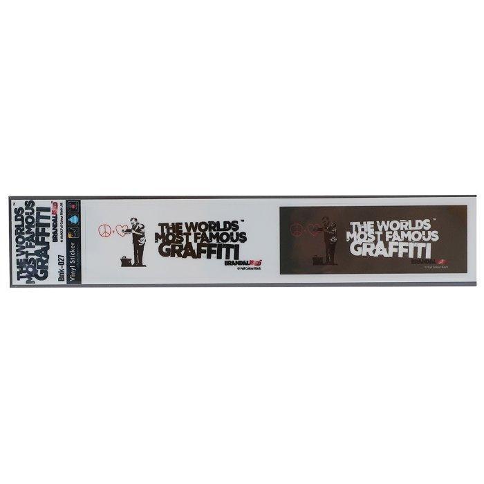 バンクシー ミシン目カット 2pcs ステッカー ビッグ シール SF Doctor Banksy ゼネラルステッカー 耐水耐光仕様 ART オフィシャルグッズ