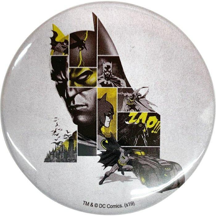 バットマン 80YEARS 缶バッジ ビッグ カンバッジ Aタイプ DCコミック インロック 5.6cm コレクション 雑貨 キャラクターグッズ