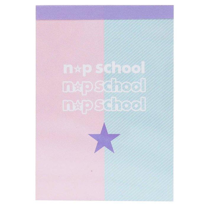 メモ帳 ミニ ミニメモ ニコプチスクール Aパステルxシンプル柄 n☆p school ・・・