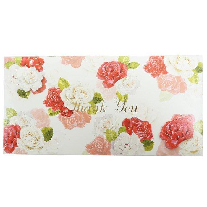 熨斗袋 FLOWER ギフト 金封 THANK YOU クローズピン 大人可愛い メッセージカード付き ご祝儀袋グッズ