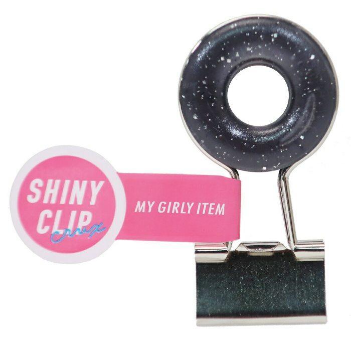SHINY CLIP[クリップ]マスコットクリップ/ドーナツ 【56296/クリアブラック】