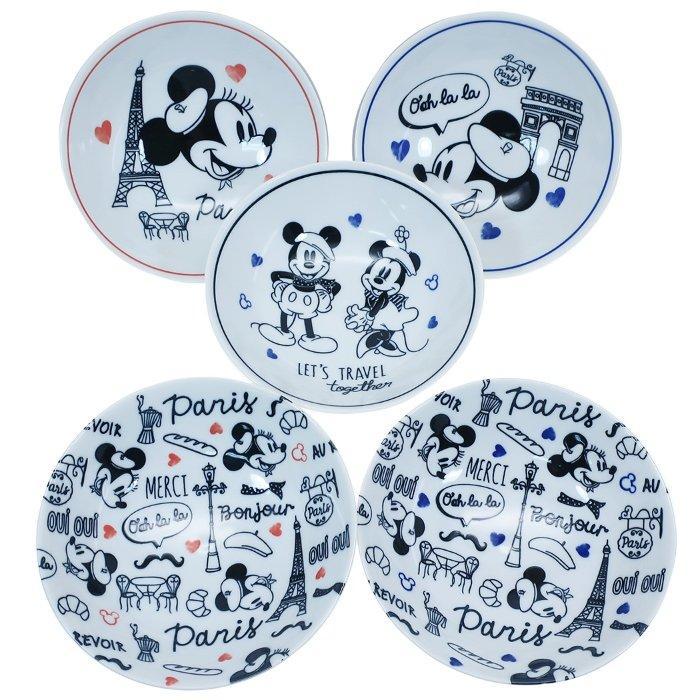 ミッキー&ミニー 食器ギフトセット フルーツボウル 5枚セット レッツトラベル ディズニー 前畑 プレゼント キャラクター グッズ