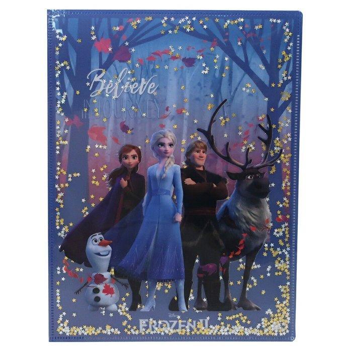 アナと雪の女王 2 ポケットファイル スパンコール Wポケット A4 クリアファイル 集合 ディズニー デルフィーノ コレクション文具 キャラクターグッズ