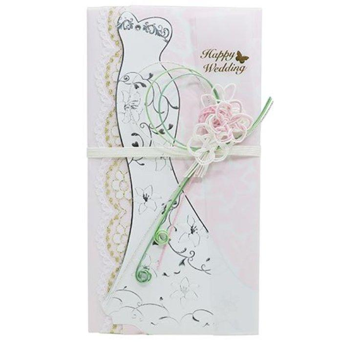 ドレス金封 ご結婚祝い ご祝儀袋 マーメイドピンク フロンティア 熨斗袋 中封・・・