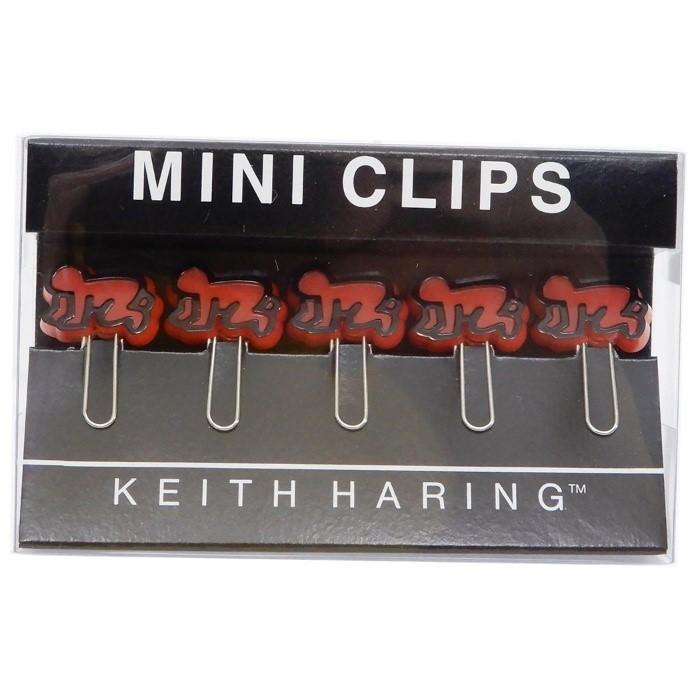 キースヘリング クリップ ミニクリップ 5個セットPOP ART[RED]
