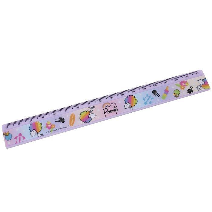 スヌーピー ラバー 17cm スリム 定規 ものさし レインボーシリーズ 虹 ピーナッツ マリモクラフト 文具 キャラクター グッズ