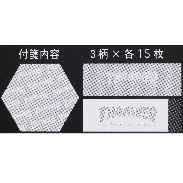 THRASHER スラッシャー[付箋]ダイカットふせんセット/Vol2 【White】