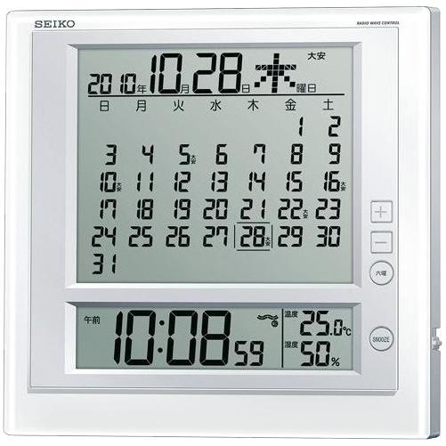 セイコー 掛置兼用 温湿度表示付き電波時計SQ422W