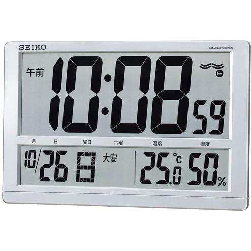 SEIKO(セイコー) 掛置兼用 温湿度表示付き電波時計 SQ433S