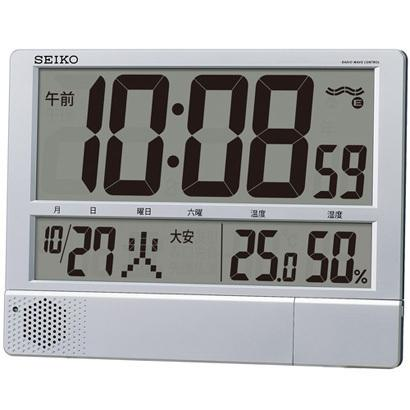 SEIKO(セイコー) プログラム機能・温度・湿度つき 掛置兼用時計 SQ434S