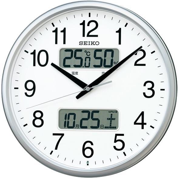 SEIKO(セイコー) 電波掛時計 『カレンダー、温度・湿度表示つき電波掛時計』 ・・・