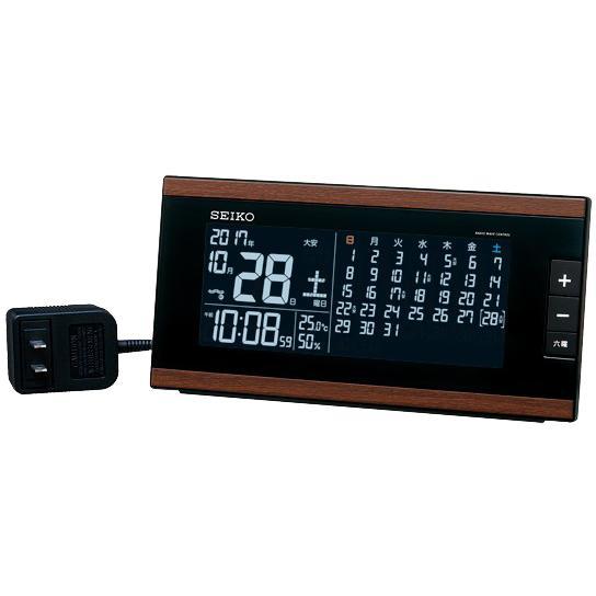 SEIKO(セイコー) 電波置時計 『マンスリーカレンダー搭載 交流式電源 デジタ・・・