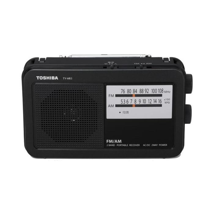 TOSHIBA(東芝) AM/FMホームラジオ TY-HR3-K (ブラック)