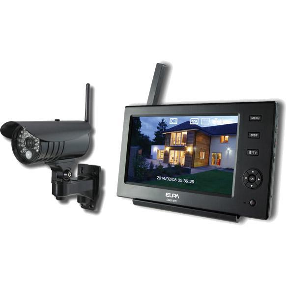 朝日電器 ELPA ワイヤレスカメラ&モニター CMS-7110