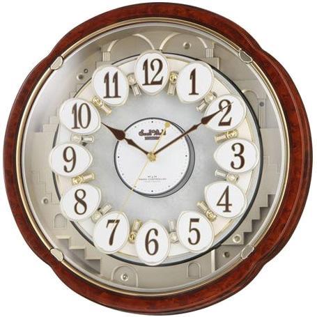 リズム時計 掛時計 電波からくり時計 『スモールワールドコンベルS』 4MN480R・・・