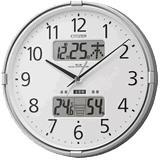 CITIZEN シチズン 電波掛時計 『インフォームナビF』 4FY618-019 (シルバーメ・・・