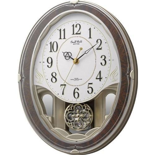 【お取り寄せ】リズム時計 掛時計 『スモールワールドハイム』 4MN520RH23