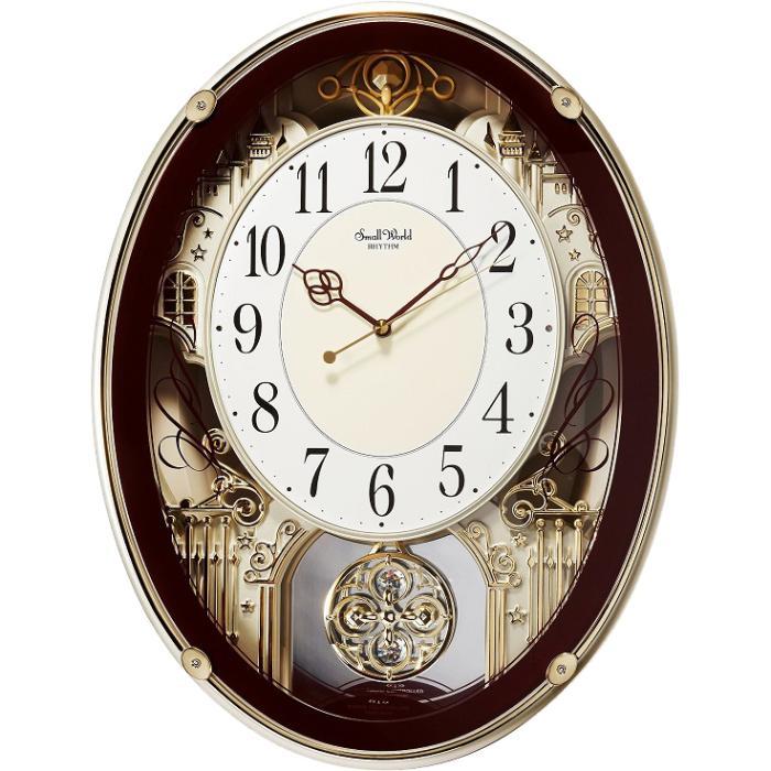 【お取り寄せ】リズム時計 掛時計 『スモールワールドプラウド』 4MN523RH06