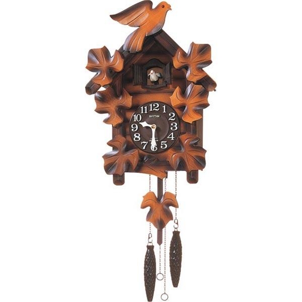 リズム時計 掛時計 『カッコーメイソンR』 4MJ234RH06