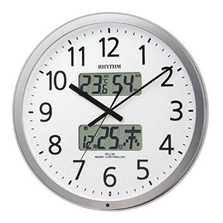 リズム時計 電波掛時計 『プログラムカレンダー403SR』 4FN403SR19