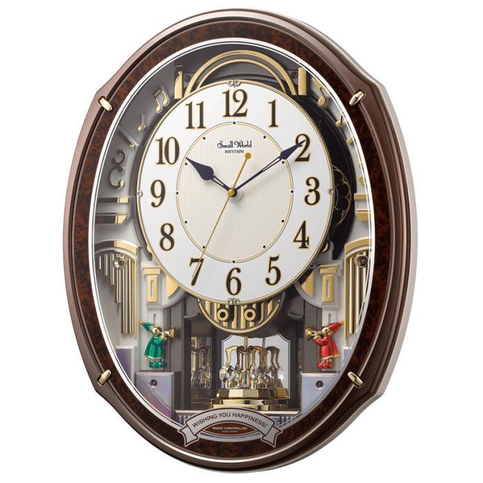リズム時計 スモールワールドアルディ 電波からくり時計 4MN545RH23