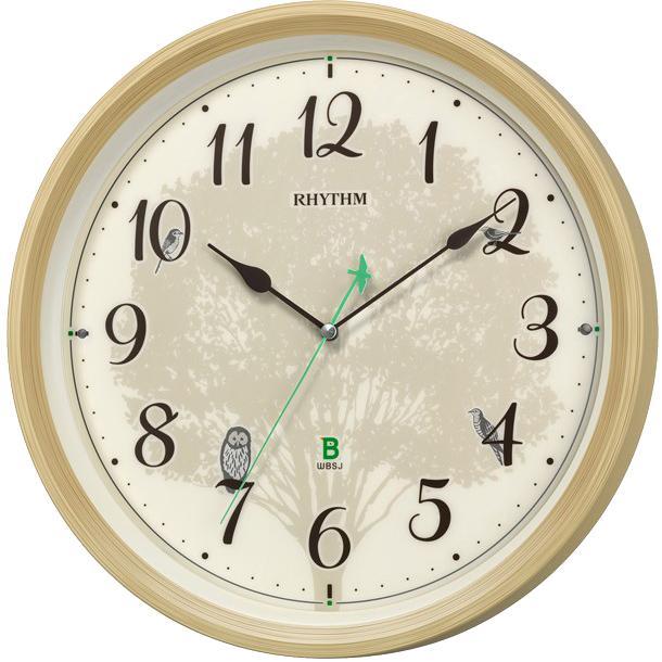 リズム時計 電波掛時計 『日本野鳥の会 四季の野鳥 報時掛時計409』 8MN409SR・・・