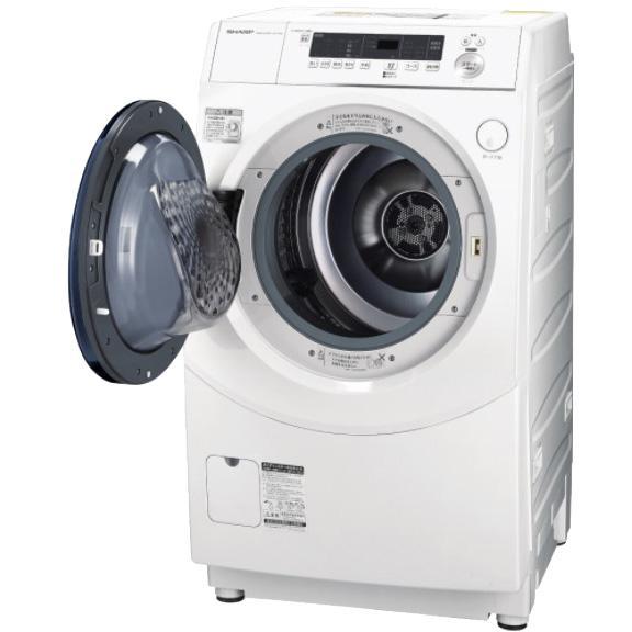 【日付・時間指定不可】SHARP(シャープ) 洗濯・脱水容量/乾燥容量10kg/6kg 左・・・