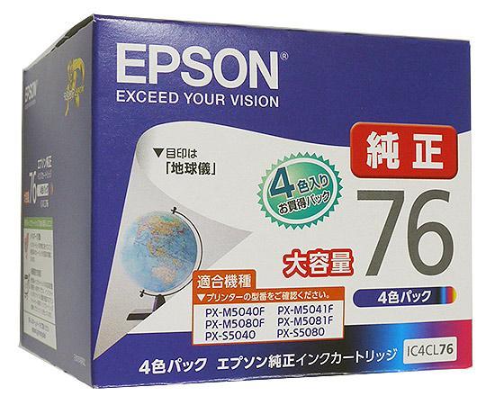 EPSON純正品 インクカートリッジ IC4CL76 (4色パック)