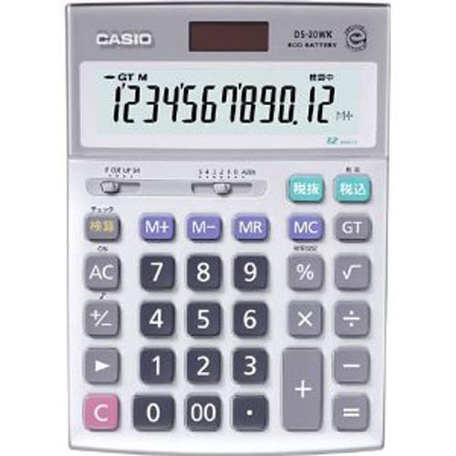 CASIO製 デスク型電卓 検算タイプ12桁 DS-20WK-N
